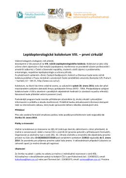 VIII. Lepidopterologické kolokvium