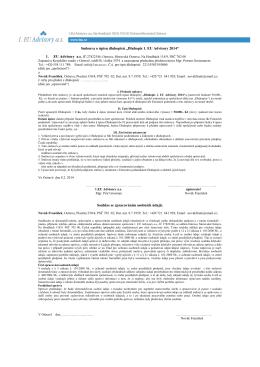 Vzor smlouvy o úpisu