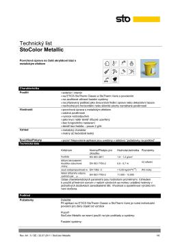 Technický list StoColor Metallic
