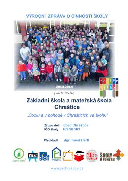 Výroční zpráva - Základní škola a mateřská škola Chraštice