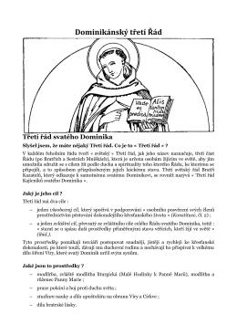 Dominikánský třetí Řád - Třetí řád kajícníků svatého Dominika – TOP