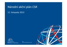 EQW, Národní akční plán CSR, Hana Šimková a Lucie Součková