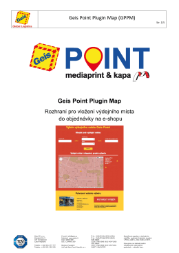 1. Co je Geis Point Plugin Map?