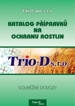 Trio-D spol. s r.o. SOUBĚŽNÉ DOVOZY - Trio