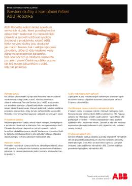 Servisní služby a komplexní řešení ABB Robotika