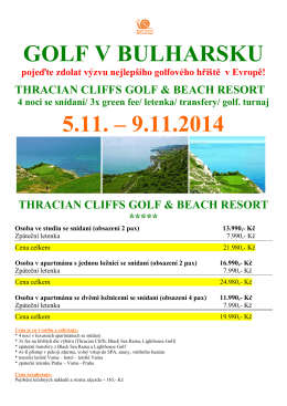 golf v bulharsku thracian cliffs