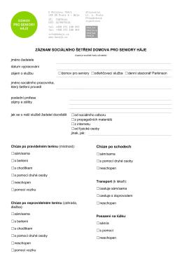 Dotazník k sociálnímu šetření PDF