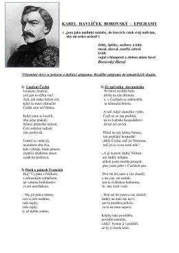 K.H.Borovský - epigramy
