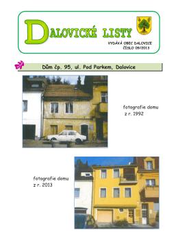 Dalovické listy č. 09/2013