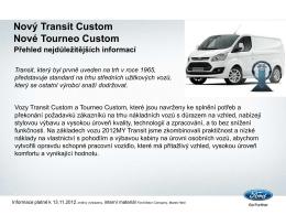 nový transit custom ! vhodný pro přestavbu na sanitní vozidlo dpp