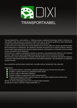 Katalog ke stažení - Transportkabel DIXI