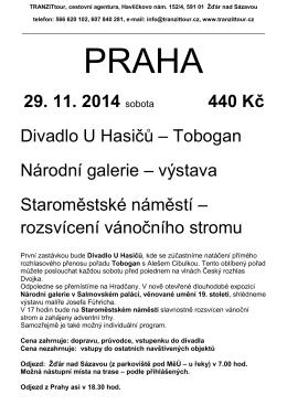 PRAHA 29.11. - TRANZITtour