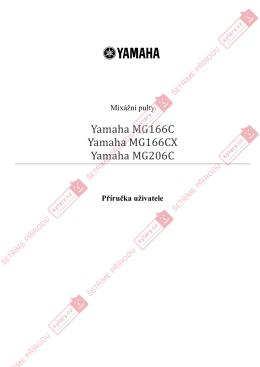 Yamaha MG206C - Příručka uživatele (CZ)