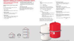 Výpočet nádoby pro systémy ústředního topení