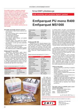 Emfiparquet PU mono R400 Emfiparquet MS1000