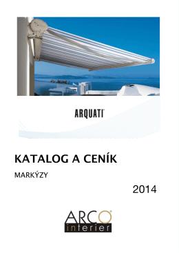 Katalog a ceník markýz 2014