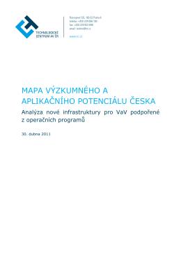 mapa výzkumného a aplikačního potenciálu česka