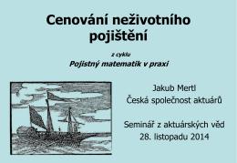 SAV pricing fix.pdf - Česká společnost aktuárů