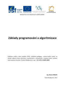 Základy programování a algoritmizace