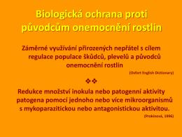 Biologická ochrana proti původcům onemocnění rostlin