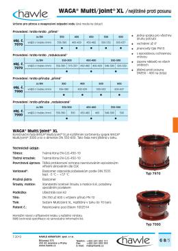 WAGA® Multi/joint® XL /nejištěné proti posunu