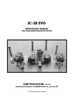 jc-28 evo uživatelský manuál