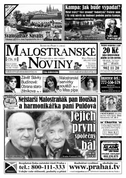 Jejich první bál - Malostranské noviny