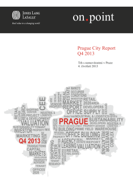 Prague City Report • Q4 2013