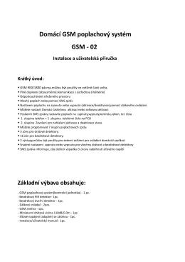 GSM alarm typ 02