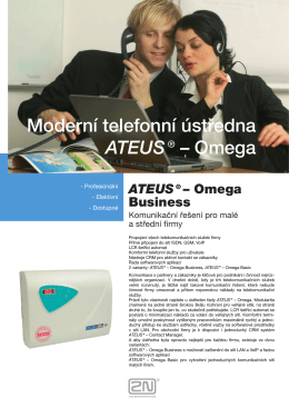 Leták Ateus Omega Business