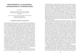 Mezi konfiskací a vyvlastněním: Liechtensteinové a