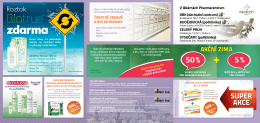 Akční nabídka - Pharmacentrum Zelený pruh