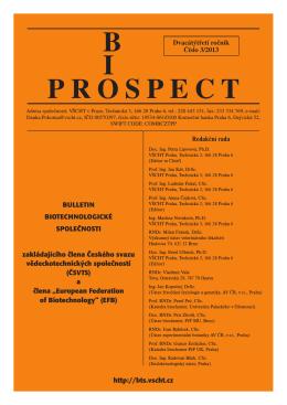 prospect bi - Biotechnologická společnost