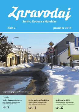 Smiřic, Rodova a Holohlav číslo 2 prosinec 2014