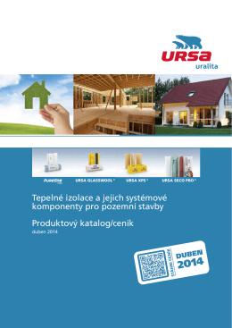 Ceník výrobce URSA 20014 - stavebniny