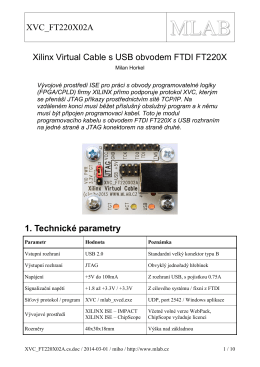 XVC_FT220X02A Xilinx Virtual Cable s USB obvodem FTDI