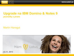 Upgrade na IBM Domino & Notes 9
