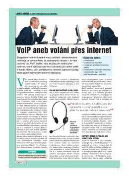 VoIP aneb volání přes internet