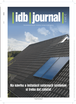 Celý článok nájdete v PDF verzii iDB Journal 2/2013.