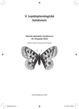 V. Lepidopterologické kolokvium 2010