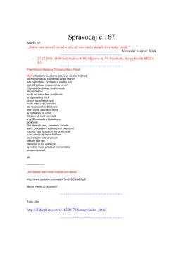 Spravodaj c 167 - szcpv