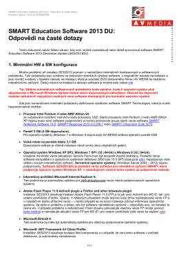 SMART Education Software 2013: Odpovědi na časté