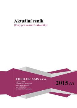 Ceník 2015