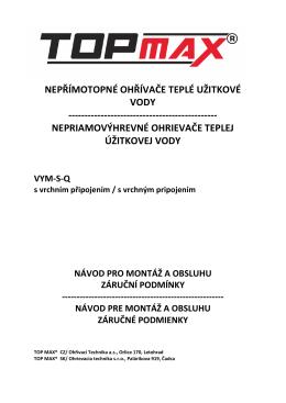 Návod - TOPMAX Teplice