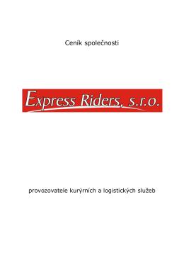 Ceník společnosti - EXPRESS RIDERS sro