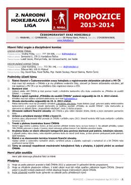 Propozice - 2.NHbL 2013-2014 - HOKEJBAL