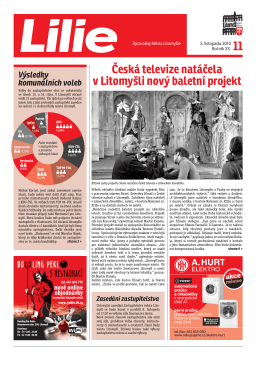 Česká televize natáčela v Litomyšli nový baletní projekt