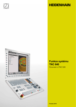 Funkce systému TNC 640