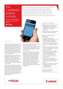 Tisk z mobilních zařízení a cloudu - Brochures