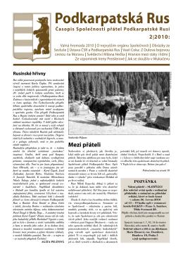 PDF formát  - stránky společnosti přátel podkarpatské rusi